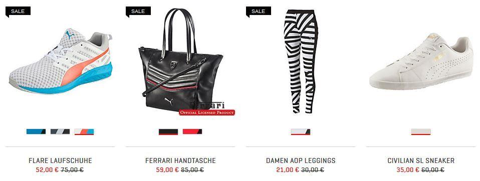 Puma bis 50% auf ausgewählte Artikel im Sale + VSK frei   TOP!