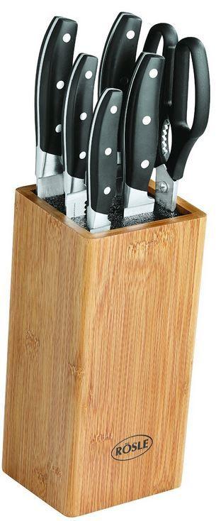 Rösle 13050  7 teiliger Bürsten Messerblock inklusive Schere für nur 66,66€