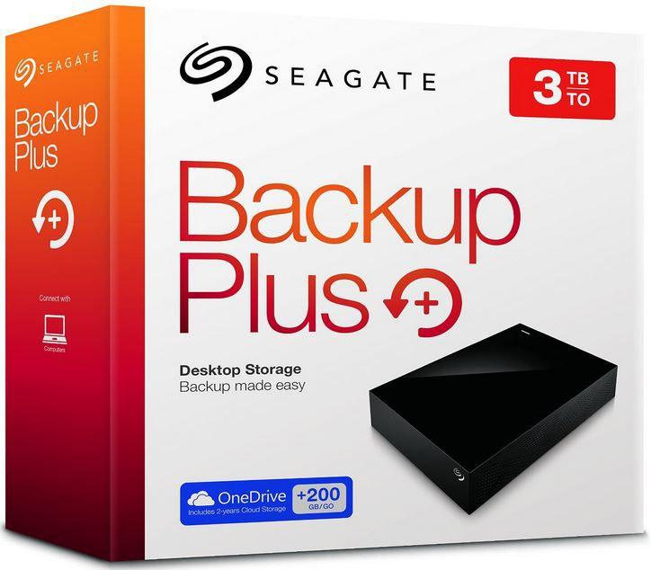 Seagte 3 TB Festplatte Seagate Backup Plus   3TB externe Festplatte mit 200GB Cloud Speicher für 89€