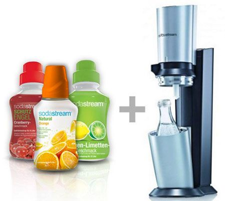 SodaStream Crystal Titan inkl. 3x Sirup und Glaskaraffe für 79,90€ (statt 89€)