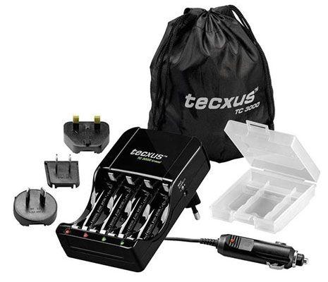 Tecxus TC 3000 travel für 9,99€ (statt 15€)   Ladegerät, Stromadapter, Box