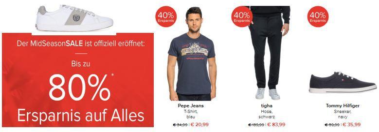 Dress for Less   MidSeason Sale mit bis 80% Rabatt   z.B. Strellson Anzug für 204€