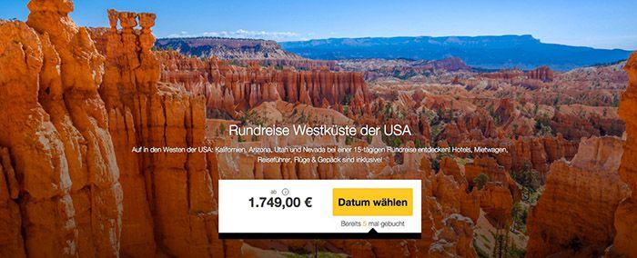 USA Westküsten Rundreise + ÜN in 12 Hotels + Flügen ab 1.749€ p.P.