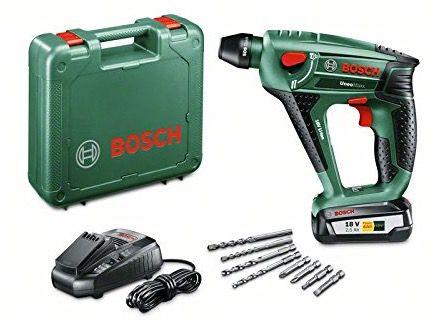 Uneo Maxx Bosch Akku Bohrhammer Uneo Maxx 2,5 Ah + 4 Bohrer für 133€ (statt 150€)
