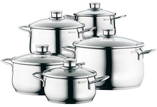 WMF Diadem Plus1 WMF Diadem Plus 5 teiliges Kochgeschirr Set für 99€ (statt 133€)