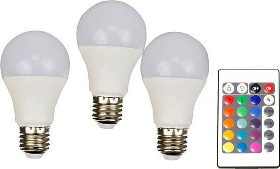 3er Set X4 LIFE RGB LED E27 7,5W für 23,99€ (statt 30€)