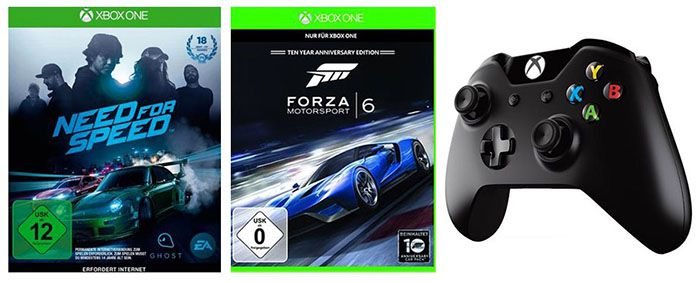 Xbox One Controller + Need for Speed + Forza 6 für 88,99€ (statt 125€)