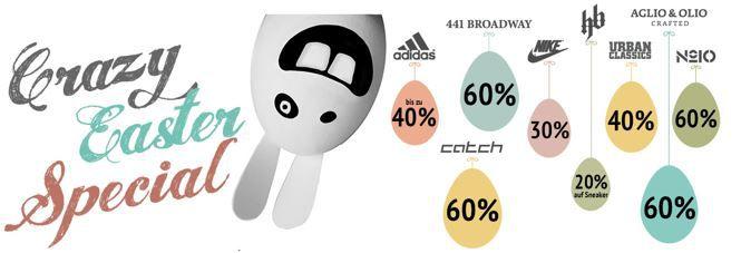 crazy Ostern Adidas und mehr Marken im Oster Deal by Hoodboyz mit bis 60% Rabatt