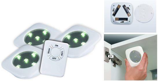 easymaxx 3 x LED Unterbauleuchten mit Fernbedienung für €