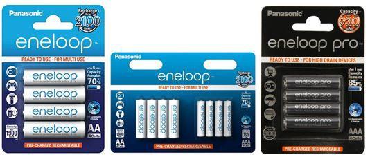 eneloop Akkus   mit bis zu 20% Rabatt z.B. Panasonic eneloop AAA 4er Pack ab 6,99€