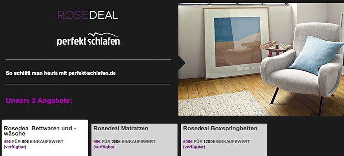 Perfekt Schlafen Gutscheine bei vente privee   1.200€ Gutschein für 500€