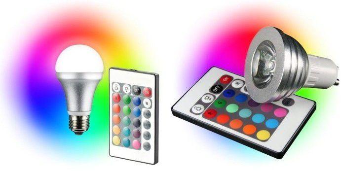 TECHNAXX LED RGB   E27 bzw. GU10 Farb LED mit 4 Watt + Fernbedienung für je 9,90€