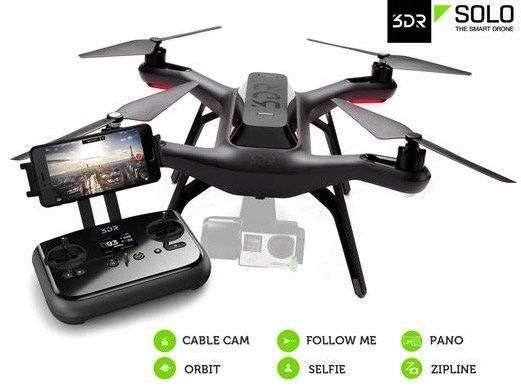 3DR Solo Smart Aerial Drohne für 305,90€ (statt 469€)