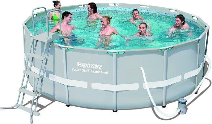 Bestway Frame Pool Power Steel Set 427 X 122 Cm Fur 295 Statt 414
