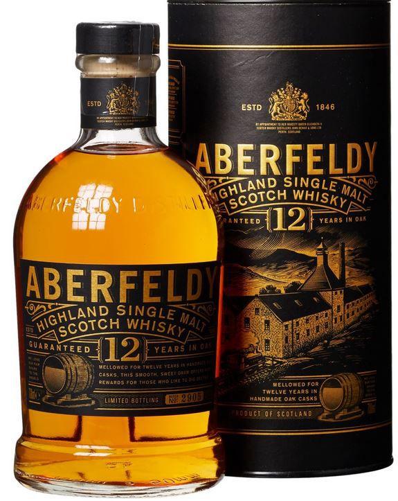 Aberfeldy Highland Single Malt Whisky 12 Jahre für 29,99€