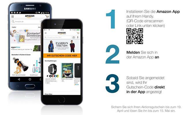 Amazon App Erstmalig in der Amazon App anmelden und 5€ kassieren