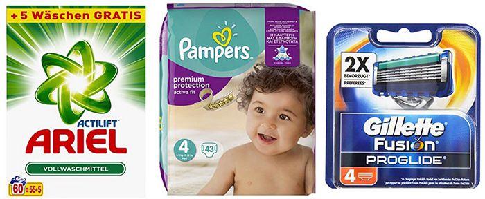 Amazon Pantry: 10€ Rabatt auf P&G Artikel (günstige Windeln, Rasierklingen etc.) bei mind. 25€