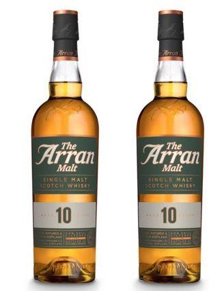 2 Flaschen Arran 10 Jahre Single Malt Scotch Whisky für 49,70€ (statt 60€)