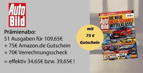 Auto Bild1 51 Ausgaben Auto Bild für effektiv 34,65€ (statt 110€)   TOP!