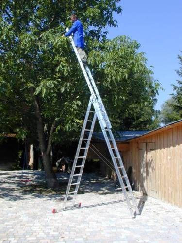 B9ydhgCWkKGrHqFjMEw5DMd7ZBMPwRmjS7w 12 Ernst Mehrzweckleiter Aluminium 3x12 Sprossen Leiter (inkl. Eimerhaken) für 239€ inkl. Versand