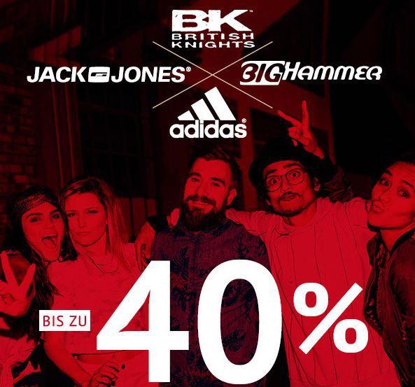 Adidas, Jack & Jones, British Knights und Big Hammer mit bis zu 40% Rabatt
