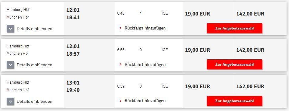 Bahn Fehler Tipp! Bahn Fehler alle ICE Verbindungen für nur 19€
