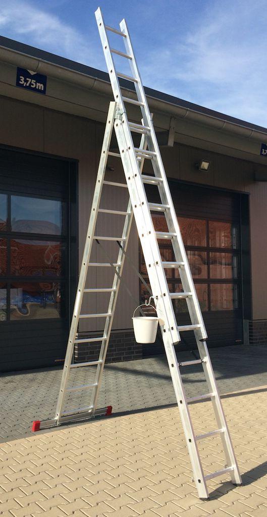 Ernst Mehrzweckleiter Aluminium 3x12 Sprossen Leiter (inkl. Eimerhaken) für 239€ inkl. Versand