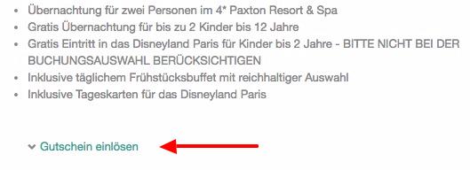 Bildschirmfoto 2016 04 29 um 10.40.10 TOP! Dank Gutschein Disneyland Paris + 1 ÜN im 4* Hotel + Frühstück ab 99€p.P.