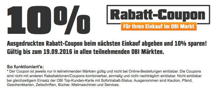 Bildschirmfoto 2016 09 14 um 13.32.00 10% OBI Rabatt auf ALLES im Markt   Günstige Grills, Möbel etc.