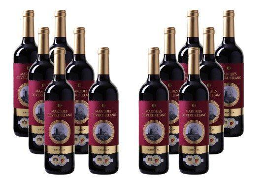 12 Flaschen Marques de Verdellano Utiel Requena DO für 39,96€   mit Gold prämiert!