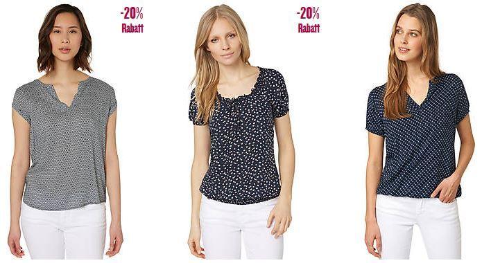 Blusen Rabatt Tom Tailor mit 20€ Rabatt ab 100€ Einkauf auch auf Sale Ware   Hot!