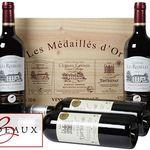 6 Flaschen prämierter Bordeaux Superieur Wein in Holzkiste für 49,99€