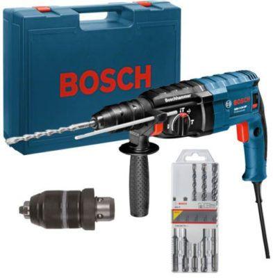 Bosch GBH 2 24 DF   Bohrhammer im Koffer inkl. Bohrer Set statt 209€ für 139€