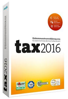 Buhl Data tax 2016 Buhl Data tax 2016 ab 5€ (statt 8€)   Steuererklärung 2015 auch für Selbständige!