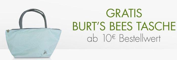 Burts Bees Tasche Gratis Burts Bees Tasche (Wert 7€) ab 10€ Bestellwert