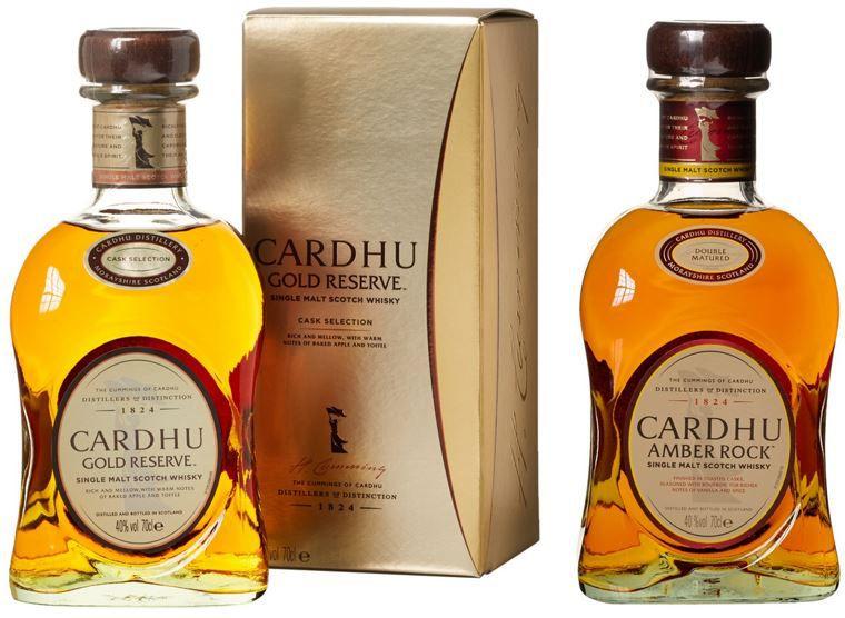 Cardhu Gold Reserve und  Amber Rock Single Malt Scotch Whisky heute ab 27,99€