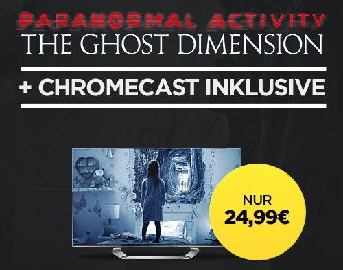 Chromecast 2 + Paranormal Activity für 24,99€ (statt 39€)