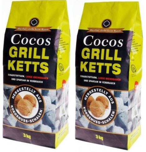 6kg Cocos Grill Briketts für 10,19€ (statt 14€)