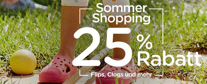 Crocs Sommer Crocs mit 25% auf die Sommerkollektion + VSK frei