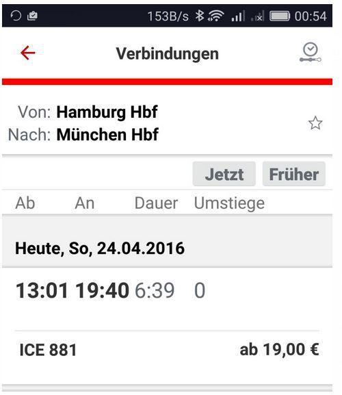 Tipp! Bahn Fehler alle ICE Verbindungen für nur 19€