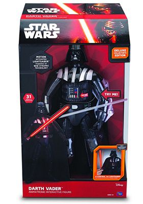 Darth Vader Actionfigur Ausverkauft! Star Wars Interaktive Darth Vader Actionfigur für 44,58€ (statt 94€)