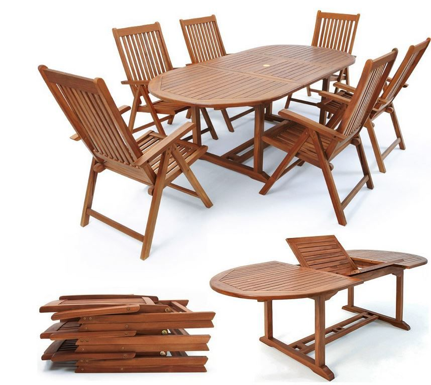 Deuba Vanamo Deuba Vanamo Holz Gartensitzgruppe für 269,10€