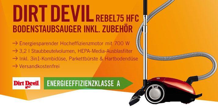 Dirt Devil DD7275 1 Rebel 75HFC Staubsauger mit Beutel für 69€ (statt 95€)