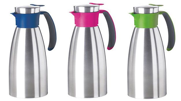 Emsa Soft Grip Edelstahl Isolierkanne 1 Liter für 13€ (statt 19€)
