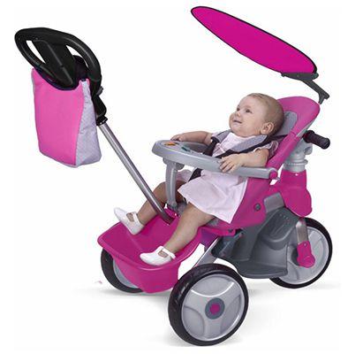 Feber Baby Trike Schnell! Feber Baby Trike Easy Evolution Girl Bobbycar für 68€(statt 122€)