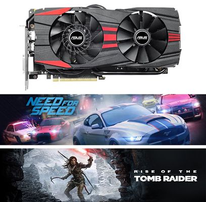 Asus GeForce GTX960 OC Black 4GB + 2 Spiele für 189,90€ (statt 265€)