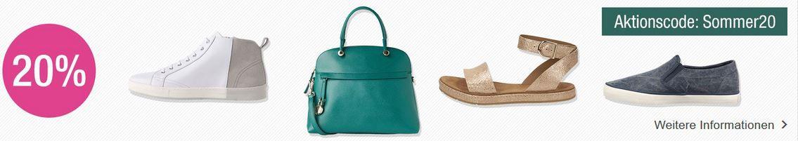 Galeria Taschen Angebot Galeria Kaufhof mit 20% extra Rabatt auf ausgewählte Damen & Herren Schuhe + Damentaschen