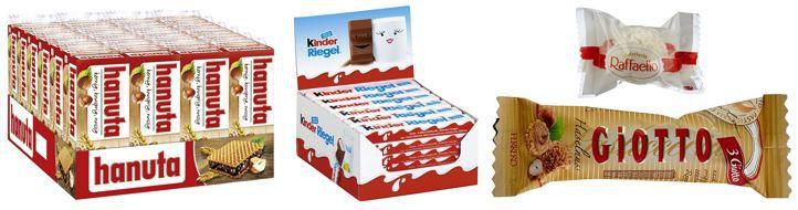 Ferrero und Kinder Süßigkeiten im Amazon Angebot des Tages   TIPP!