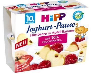 Schnell sein! Hipp Himbeere in Apfel Banane (16 x 400g) für nur 11,94€ (statt 32€)