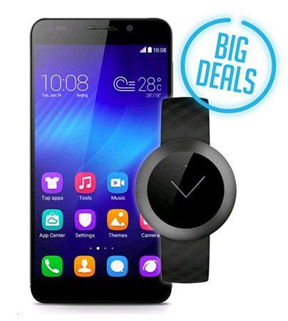 Huawei Honor 6 LTE Smartphone + Z1 Band für 249,99€ (statt 326€)